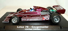 FLY 053802 Lotus 78 Gaugemaster  Limited Edition Brand New 1/32 Slot Car