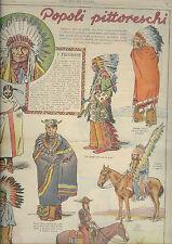 corriere dei piccoli del 1932 I pellirosse - fortunello da ritagliare Indiani