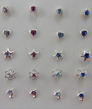 Piercing Naso - Argento 925 - Fiore O. Sole O. Stern Trasparente O. Rosa