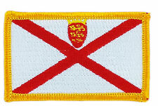 FLAG PATCH PATCHES JERSEY ISLAND IRON ON COUNTRY EMBROIDERED WORLD SMALL FLAG