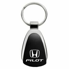 Honda Pilot Key Ring Black and Chrome Teardrop Keychain