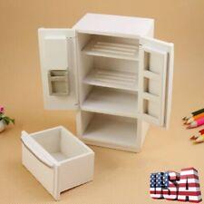 Miniature Wooden Fridge Refrigerator For 1/12 Dollhouse Kitchen Furniture Decor