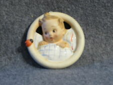 Goebel Hummel from Germany 3 inch Ceramic Wall Plaque Child in Bed #137