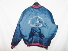Vintage Rennoc XL Alaska Blue Satin Jacket Cook Inlet Tug & Barge Co Boat Snap