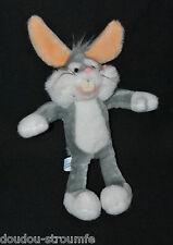 Peluche Doudou Bugs Bunny WARNER BROS. NOUNOURS 1990 Blanc Gris 30/37 Cm TTBE