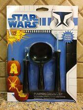 Star Wars Clone Wars Pumpkin Carving Kit NIP 2012 Bonus Pattern