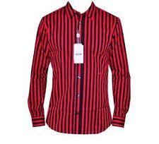Camicie casual e maglie da uomo a manica lunga rossa