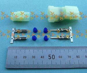 HM 2 way connector, MALE & FEMALE set with pins, sockets & seals Sumitomo SEALED