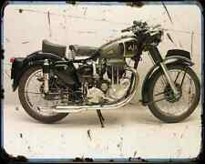 Ajs 18S 500 A4 Photo Print Motorbike Vintage Aged