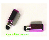 For iPad 2 3 iPhone 4 4G 4S 3G 3Gs Dock Charge Port Dust Cover Pen Stylus Pink