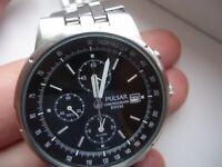 PULSAR(SEIKO Corporation)Chronograph,Alarm,Stopwatch,Date,Dual time-men's watch