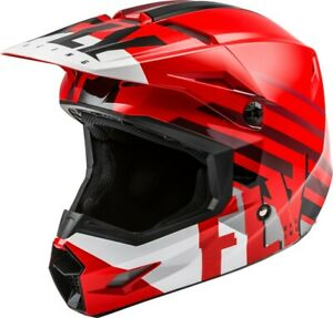 Fly Racing Kinetic Thrive Helmet (Youth Large, Red/White/Black)