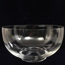 TIFFANY & CO_CLEAR CRYSTAL BOWL_PAPER LABEL_EXCELLENT/MINT CONDITION_SHIPS FREE