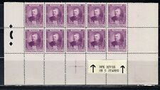 FRANCE EUROPE MONACO  STAMPS BLOCK MINT  HINGED PARTIAL SHEET  LOT 8027