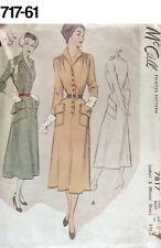 VTG Sewing Pattern McCall #7817 Size 18 Bust 34 Dress 1949 New Look Great Pocket
