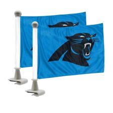 NFL Carolina Panthers Car Hood / Trunk Ambassador Flags Set of Two Double Sided