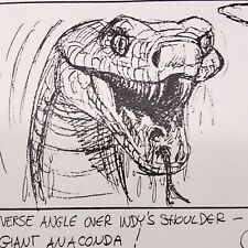 Indiana Jones & The Last Crusade, Production Used Storyboard, Young Indy v Snake
