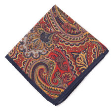 Lot of 3 BROOKS BROTHERS Pocket Square Handkerchief 100/% Silk Navy NWOT $135 New