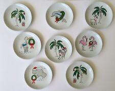 8 Florida Marketplace Christmas Beach Dessert Hors D'oeuvre Plates tropical