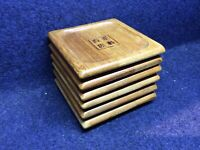 Square Sized Natural Bamboo Chinese Tea Cup Mat Serving Tray - 6 pieces