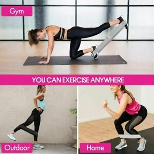 New 3 pc Hip Resistance Band Set Booty Glutes Circle Legs Exercise Yoga Pilates