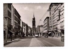 Germany - Krefeld, Rheinstrasse - Vintage Real Photo Postcard