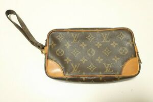 Authentic Louis Vuitton  Monogram Marly Dragonne PM Clutch Bag #7458