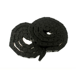 2Pcs 10mm*10mm Plastic Closed Cable Drag Chain Carrier w End Connector 1M Length