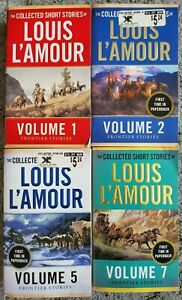 LOUIS L'AMOUR FRONTIER VOLUMES WESTERN 4 BOOK LOT PAPERBACK SHORT STORIES