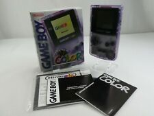 NINTENDO GAMEBOY COLOR PURPLE TRANSPARENT  RETRO VINTAGE GENUINE MINT BOXED
