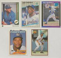 1989 UPPER DECK TOPPS DONRUSS FLEER BOWMAN Gary Sheffied (5x) Rookie Card Lot NM