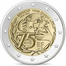 2 Euro FRANCIA 2021 75° DELL'UNICEF - 2 € Commemorativo