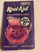 Vintage 1980s Kool-Aid Pack NOS Packet Sealed Grape General Foods Drink