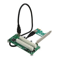 PCI E PCI-E to Dual PCI Adapter Card Converter PCI Slot Expansion Riser Card