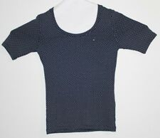 Tommy Hilfiger Blue And White Polka Dot Women's T-Shirt Size Small