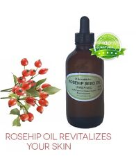 1 oz Glass Bottle 100% Rosehip Oil Pure Organic Rose Hip Seed Oil Cold Pressed