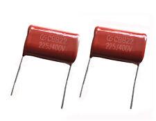 10pcs Metal film capacitors CBB22 225J 400V 2.2uF P=27mm -UKSF
