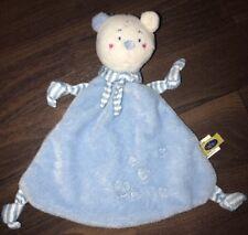 Cause Schmusetuch Schnuffeltuch Kuscheltuch Teddybär Blau Herzen Weiß Rosa Mund