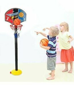 Adjustable Mini Indoor Basketball Toy for Baby Kids Play Sport Age 3-5 Years Old