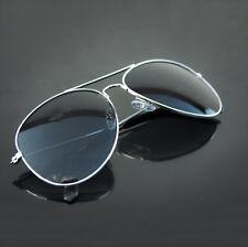 Pilotenbrille Sonnenbrille Herren Damen Aviator Flieger Silber