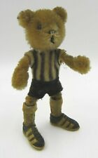 Vintage Schuco Hegi 7800/16 Teddy Bear Football Mascot Black & White Kit