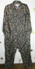 Vintage Men's MOSSY OAK Treestand Cotton Flannel Camo Coveralls USA MADE XL Reg