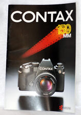 CONTAX 159mm Camera Brochure Pamphlet by Kyocera with Planar 1.4/50 T* Lens