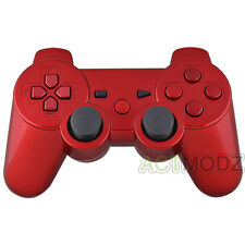Glossy Red Controller Full Housing Shell Buttons Tools Part Replacements for PS3