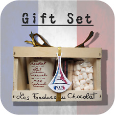 """Eiffel Tower"" Chocolate Fondue + Mini Marshmallow Gift Set France Paris PP1"