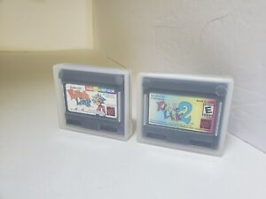 Puzzle Link 1 & 2 Lot Never used for Neo Geo Pocket Color W/SNK Plastic Cases P7
