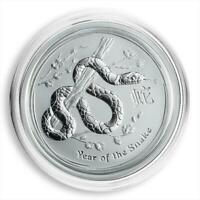 Australia 50 cents Year of the Snake Lunar Series II 1/2 oz Silver UNC 2013