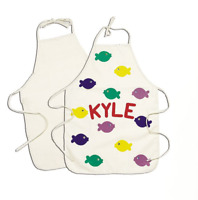 Childrens Canvas Apron Personalise Design for Painting Cooking Art Craft 1080