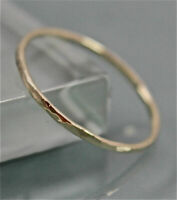 14k SOLID Gold ring~Wedding band~Stacking Band~Hammered ring~fine ring~SJR0701