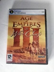 Age Of Empires 3 The War Chiefs - New Sealed - PC GAME Microsoft PAL